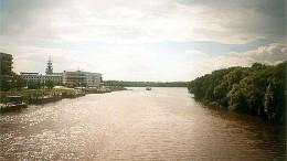 Река Омь. Вид на Иртыш.