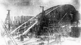 Разрушенный белогвардейцами ж/д мост
