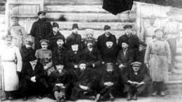 Арестованные члены колчаковского правительства
