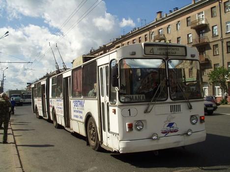 Длиннннный троллейбус