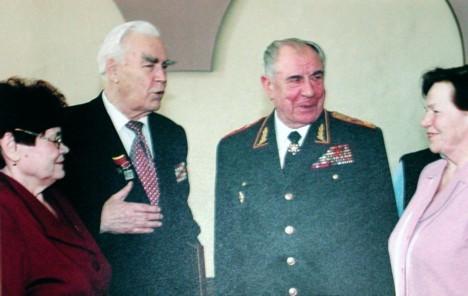 С маршалом Д. Язовым.