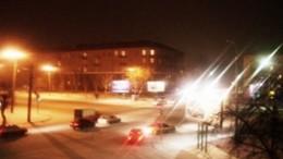 Ленинградская площадь ночью