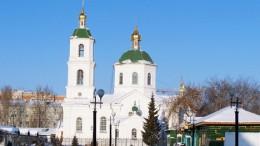 Крестовоздвиженский собор на Тарской (зима)