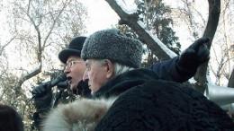 Митинг КПРФ 21 февраля. И Кравец такой молодой