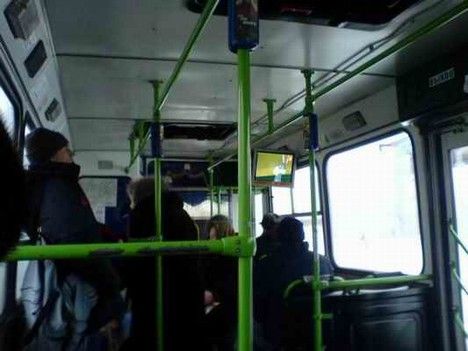 Реклама в автобусе
