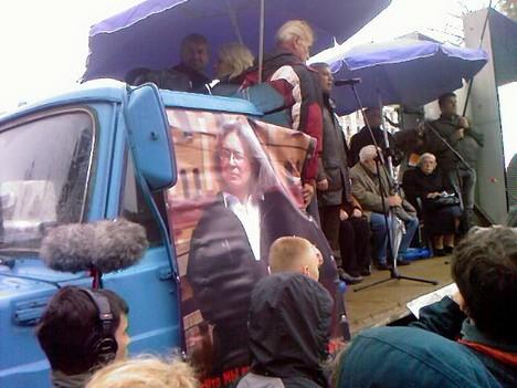 Митинг памяти Политковской