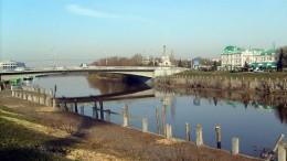 Набережная Оми, вид на Юбилейный мост