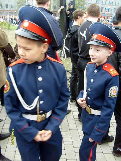 Юные зрители парада