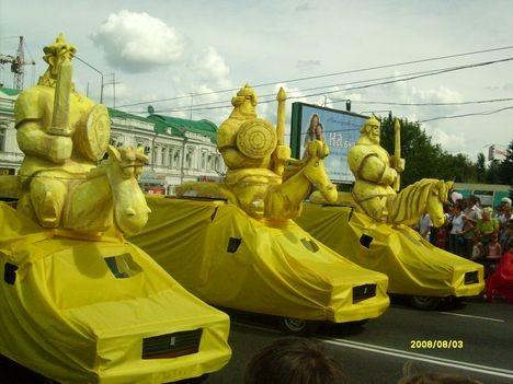 Три богатыря в Омске