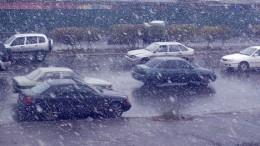 Октябрьский снег в Омске