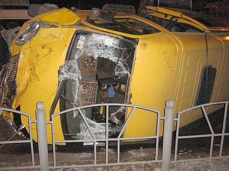 ДТП в Омске 17.12.2008: лоб вдребезги