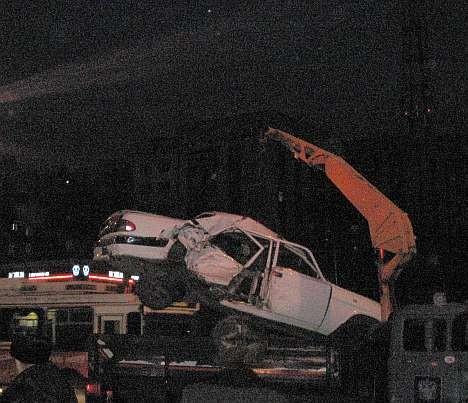 ДТП в Омске 17.12.2008: эвакуация металла