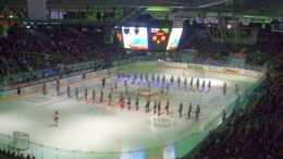 Гимн России и игра началась…