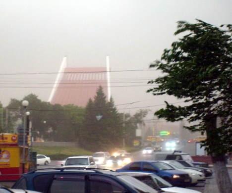 Пыльная буря в Омске
