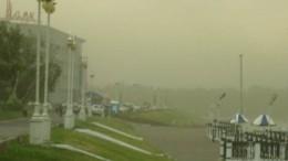 Маяк в облаке пыли