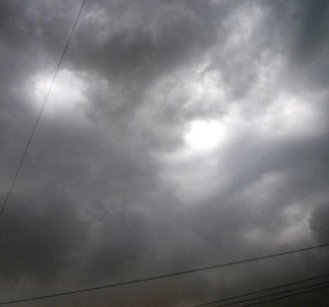 Пылевая буря в Омске