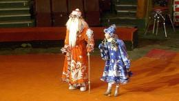 Дед Мороз и Снегурочка в цирке