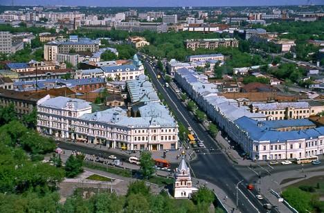 Омск ,панорама исторической части города