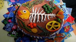 Блюдо с рыбкою