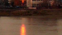 Красный зайчик на Иртыше