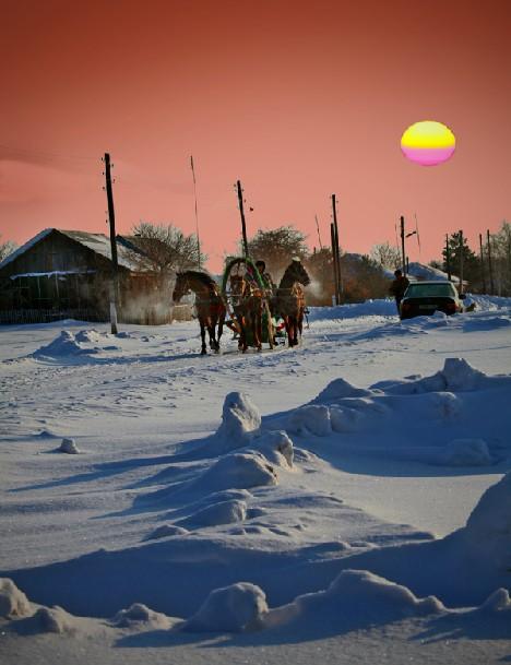 Утро в Новосергеевке