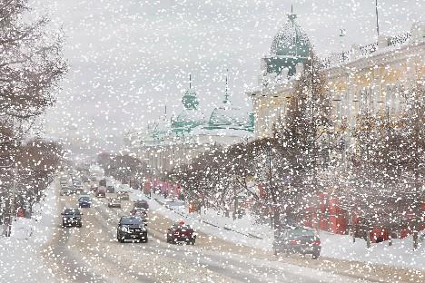 Снегопад на Любенской