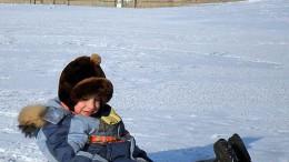 Иртыш у берега замёрз