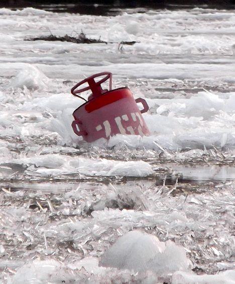 Унесённый ледоходом буй