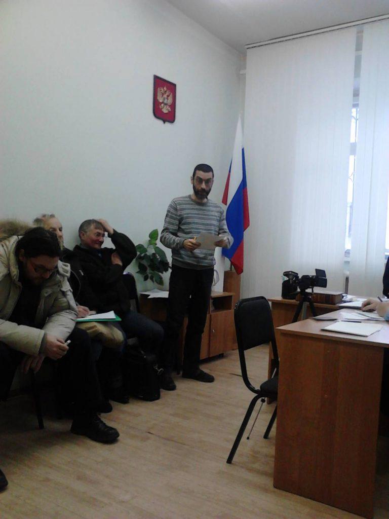 Виктор Корб в прениях по делу о полицаях