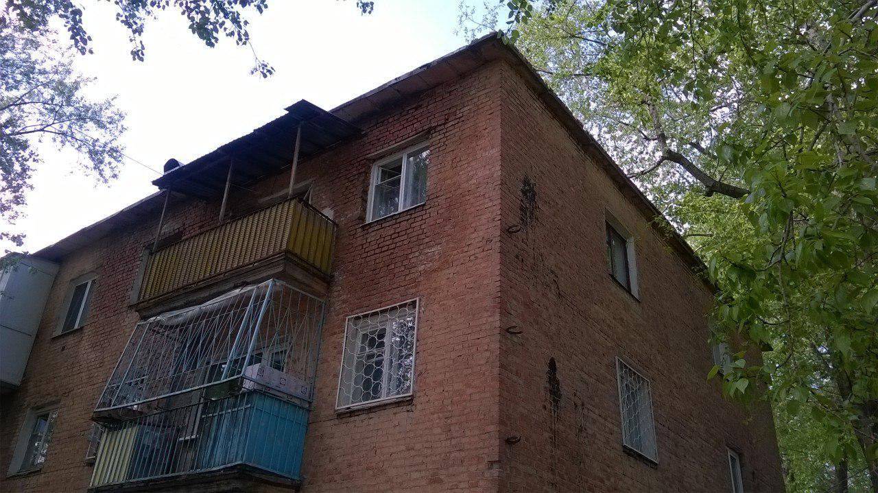 Аварийный дом в Омске