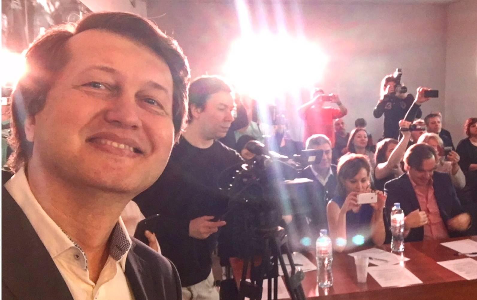 Последнее селфи, сделанное Сергеем Грушевским 29 марта 2017 года, за неделю до ареста.