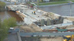 Реконструкция Юбилейного моста в Омске. Май 2018 года