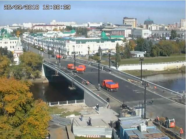 Нагрузочные испытания Юбилейного моста в Омске. Завершение