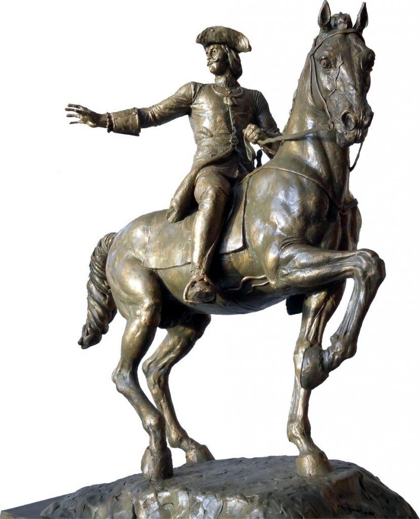 Эскиз памятника Бухгольцу в Омске скульптора Сергея Норышева
