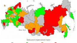 Карта заболеваемости