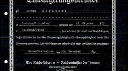 Документ о гражданстве Германии 1944 года