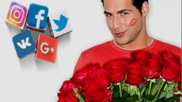 Мужчина и розы