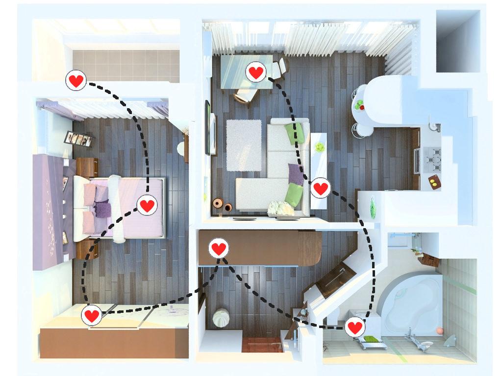 Идея романтического квеста дома