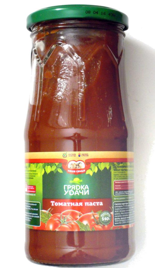 томатная паста Грядка удачи/Наша семья