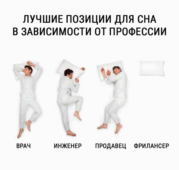 позиции сна по профессиям