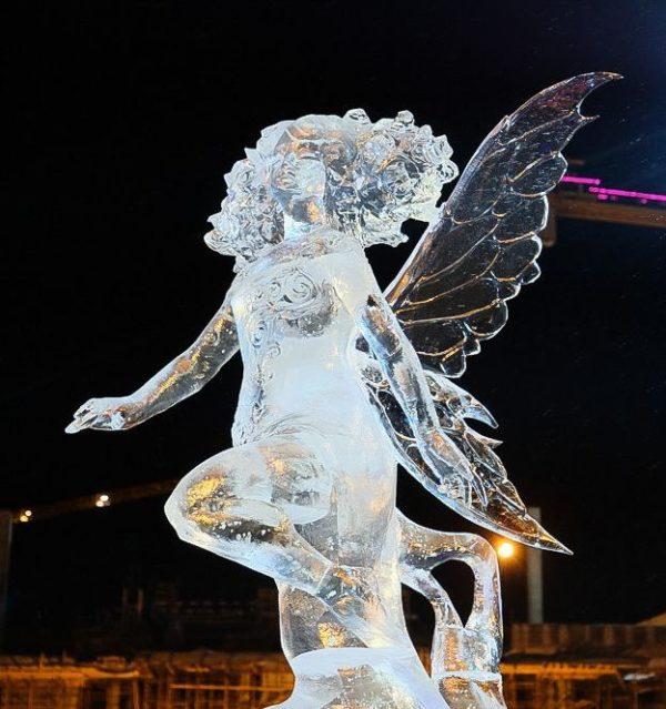 ледовая скульптура Фея